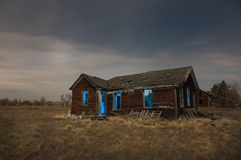 Owanka South Dakota Night Photograph