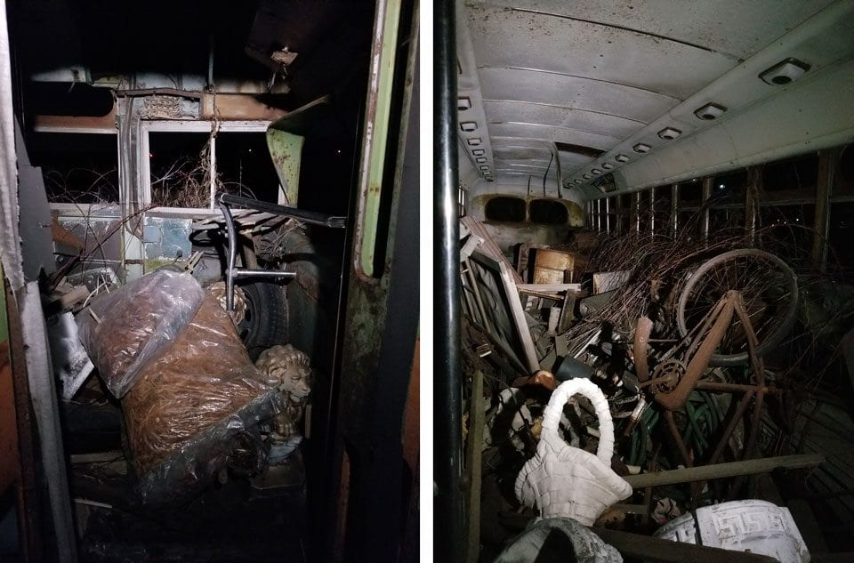 Abandoned Bus Illinois interior