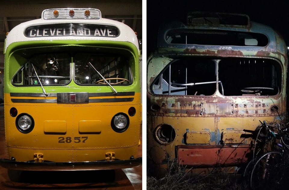Rosa Parks vs Lost Bus paint