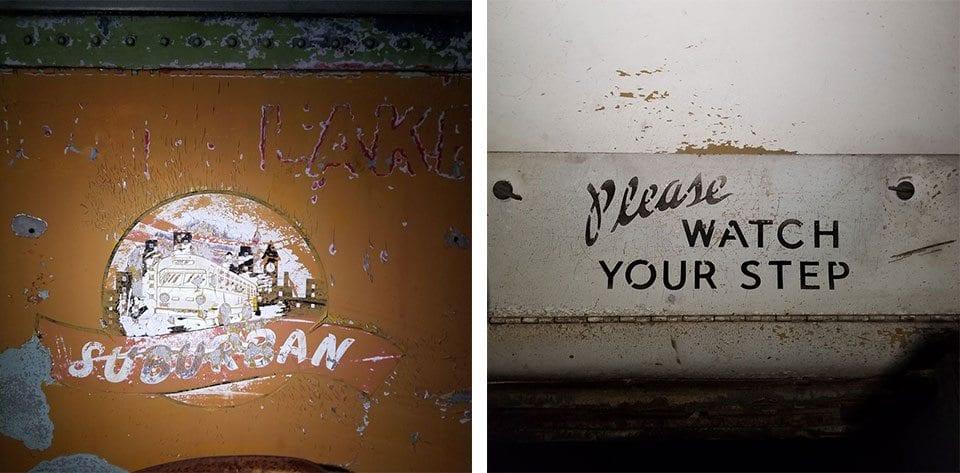 Abandoned Bus Illinois signage detail