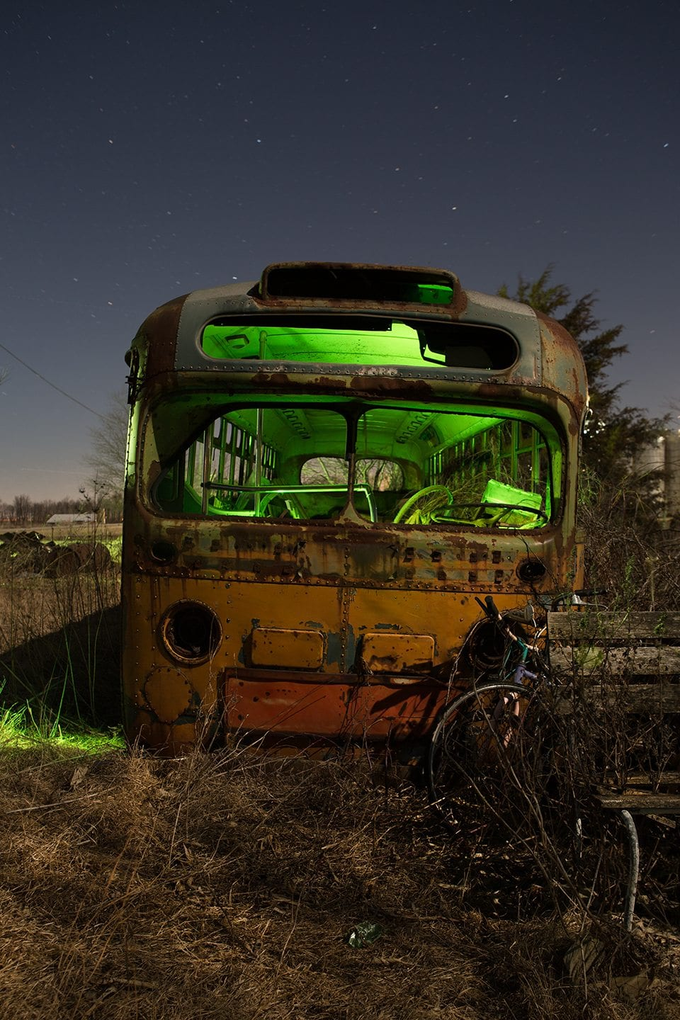 Abandoned Bus Illinois front