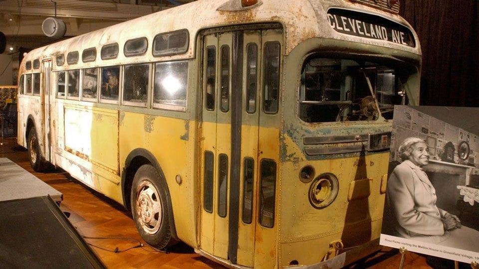 Rosa Parks Bus pre-restoration