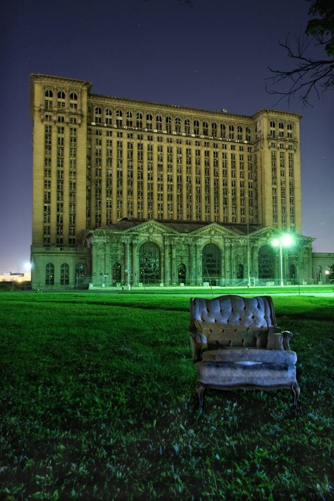 Michigan Central Station External - Detroit, Michigan - The Flash Nites