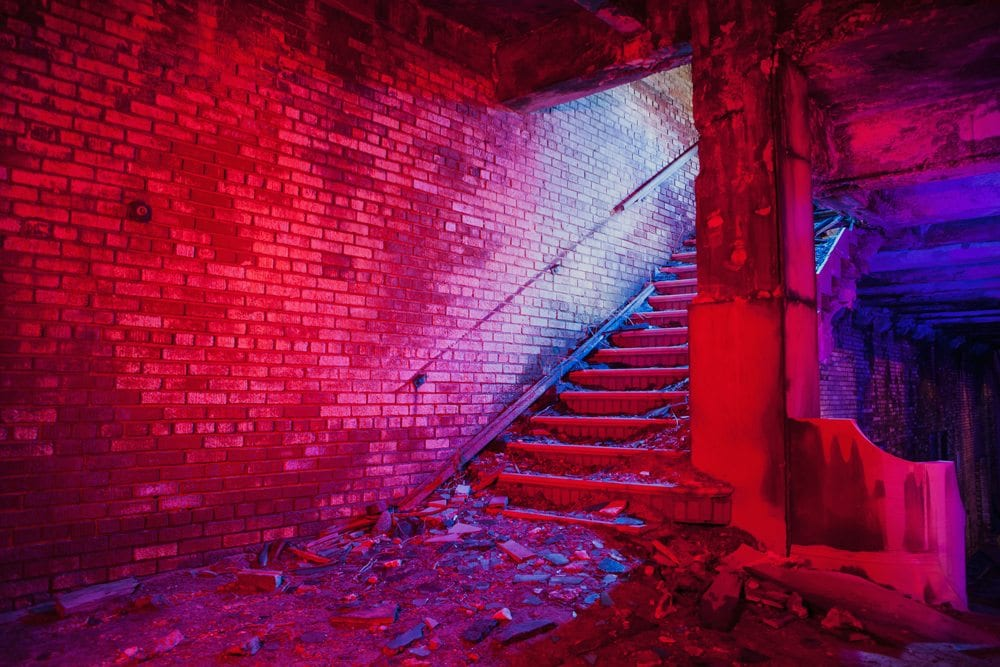 Memorial Stairs - Gary, Indiana - The Flash Nites