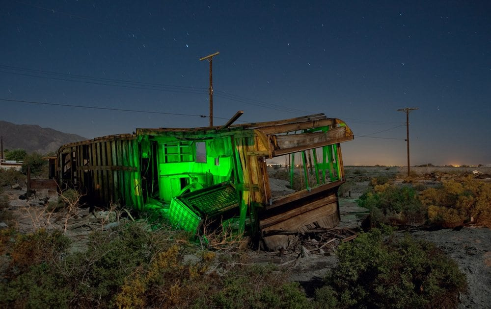 Camper Under Cover - Salton Sea - The Flash Nites