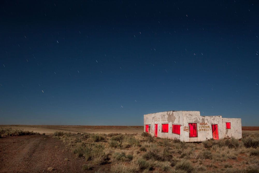 Painted Desert Trading Post Close - Arizona - The Flash Nites