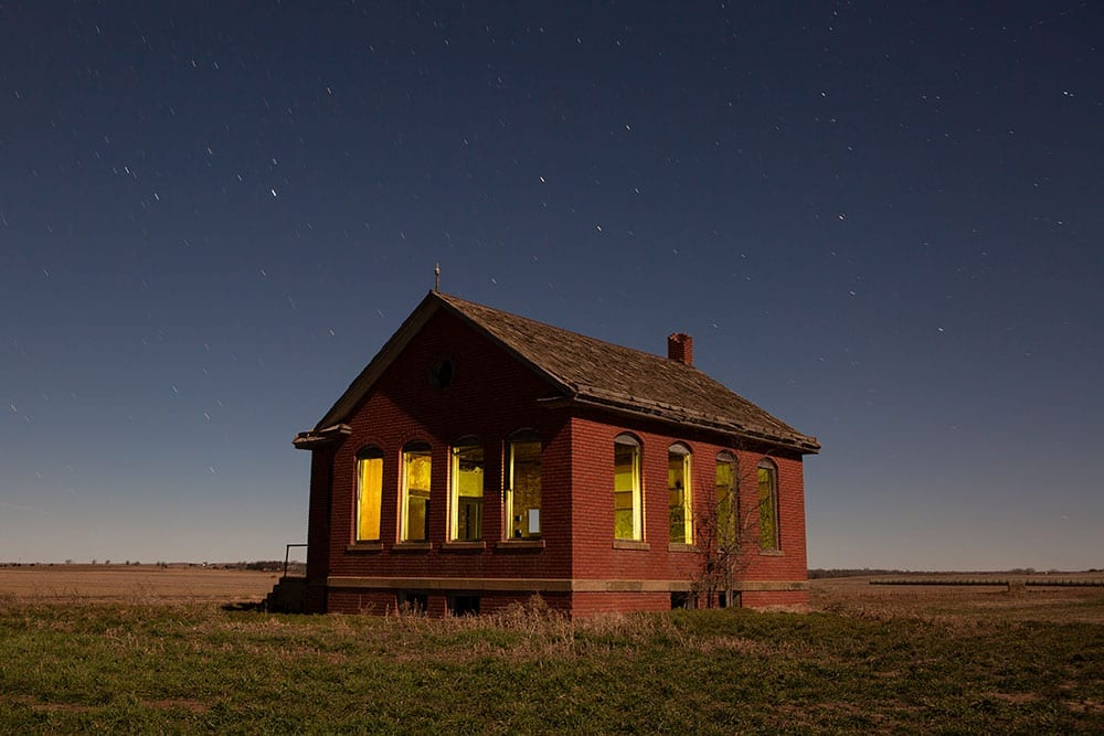 Beverly Hills Schoolhouse - Beverly, Kansas - The Flash Nites