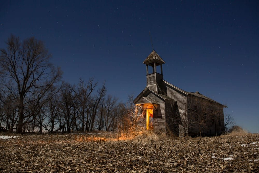 Tekamah Schoolhouse - Nebraska - The Flash Nites