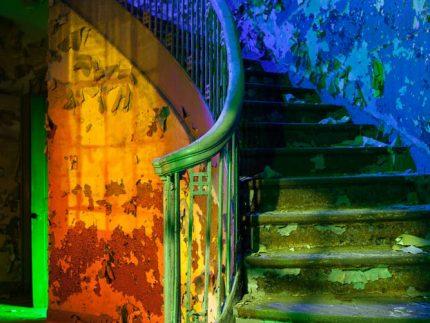 Heat Water Light Stairs - Gary, Indiana - The Flash Nites