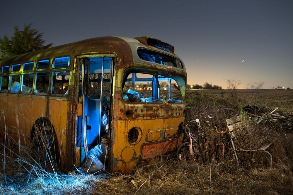 Lost Bus - Lostant, Illinois - The Flash Nites