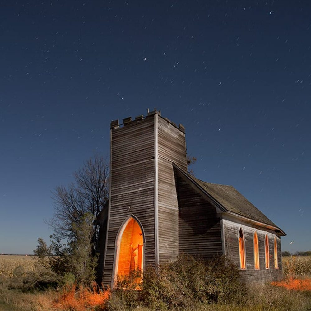 Church at Deisem - North Dakota - The Flash Nites