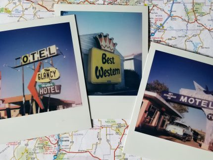 Route 66 Motels Polaroids