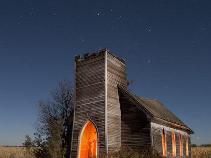 Church at Deisem - North Dakota - The Flash Nites