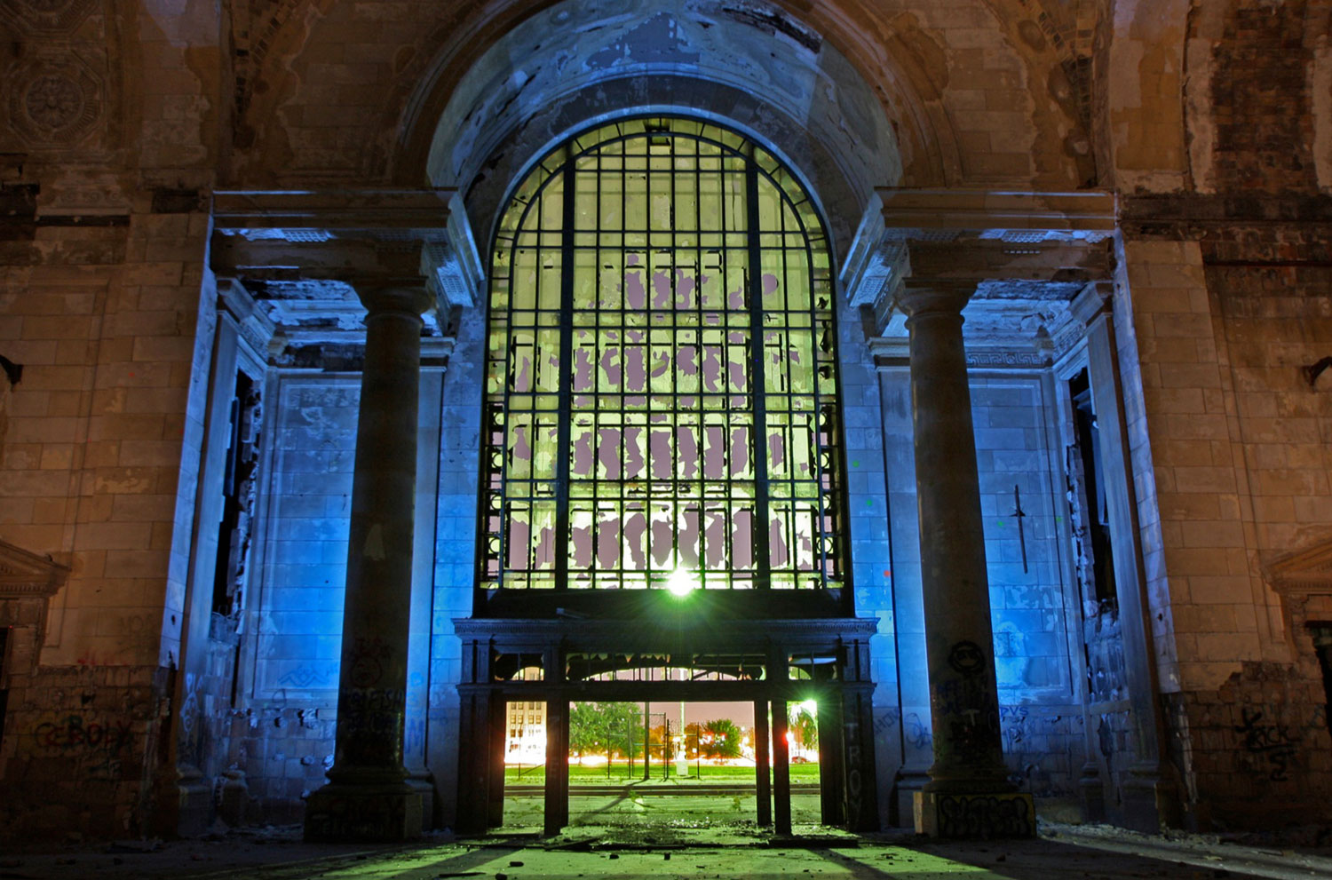 Michigan Central Station - Detroit, Michigan - The Flash Nites